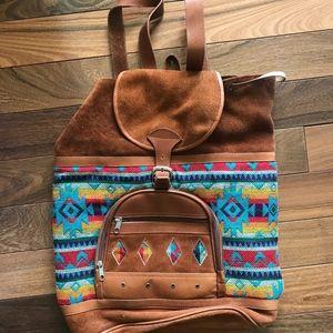 Handbags - Handmade Leather backpack from Ecuador